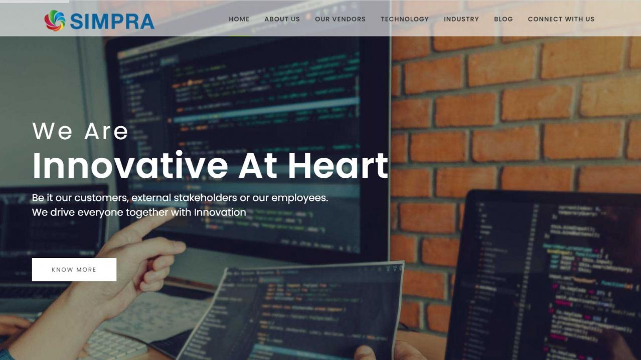 Simpra International – Website